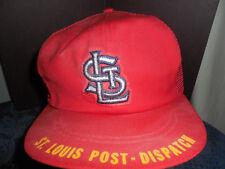 MLB CARDINALS ST. LOUIS POST-DISPATCH BASEBALL  CAP  EUC SIZE ADULT # 53
