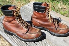VINTAGE RED WING LEATHER CHORE WORK BOOTS 7.5 EE
