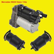 Suspension pneumatique Luftfeder gauche + droite & Compresseur Pour Mercedes w639 Viano Vito