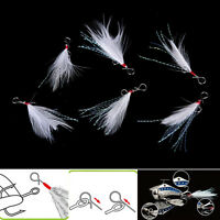 10pcs 49mm blade Lure pendant bloodstreams feather fishing lure tackle single SL