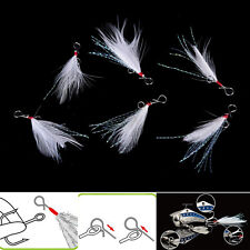 10pcs 49mm blade Lure pendant bloodstreams feather fishing lure tackle single ON