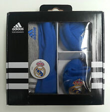 Adidas Real Madrid Geschenkset Baby Gift Set Mütze Beanie Schuhe Onesize RM O