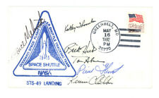 1992 SPACE SHUTTLE ENDEAVOR STS-49 crew signed cachet cover FDC + patch, sticker