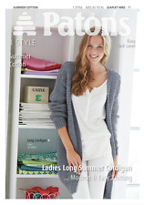 Patons Ladies Long Easy Knit Cardigan Summer Cotton Knitting Pattern 4082