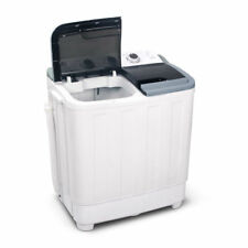 5KG Mini Portable Washing Machine White Twin Tub Top Loader 30L Caravan Camping