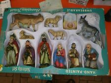 Vtg kresge Christmas Nativity Scene Set Figurines Baby Jesus- made West Germany