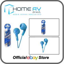 JVC HA-F160 Gumy In-Ear Headphones iPod/iPhone Compatible in Peppermint Blue