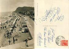 Cartolina di Pesaro, lungomare - Pesaro Urbino, 1955