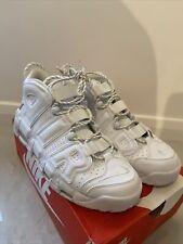 Nike Air More Uptempo 96 Reino Unido Blanco Rojo Size Uk 9.5 euro 44