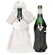 QUALITY Bride and Groom Wine Bottle Cover Wedding Wine Decorations Reception.