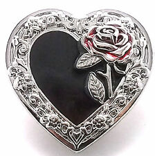 """Heart and Rose Concho Snap Button Cap 1-1/4"""" 1265-59 by Stecksstore"""