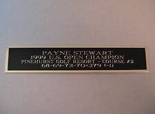 Payne Stewart 1999 US Open Champ Nameplate For A Golf Flag Display Case 1.5 X 6