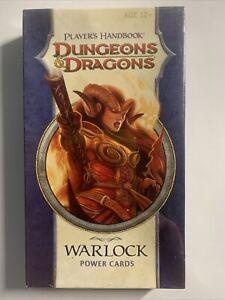 Dungeons & Dragons Player´s Handbook WARLOCK Power Cards D&D *OVP*
