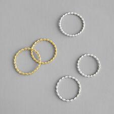 Schmaler Damen Ring Verdreht echt Sterling Silber 925 43 - 59 dünn