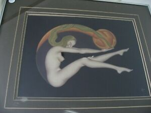 ART DECO NUDE FIRST EDITION DECOGRAPH COLOR FRAMED