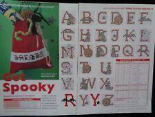 Halloween alphabet cross stitch chart