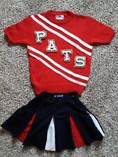 Vintage Dehen Cheerleader Sweater & Skirt Red White Blue Cheerleading Uniform
