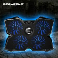 17 in Laptop Cooling Pad Gaming Four Fan Cooler Stand USB Notebook Computer Pc