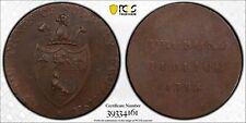 PCGS MS-62 GREAT BRITAIN SUDBURY HALFPENNY CONDER TOKEN 1/2 PENNY 1793 (DH-40)