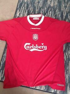 FC Liverpool 2002/2003/2004 home Size L Reebok football shirt jersey soccer