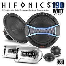 "New HIFONICS ATLAS ATL6.5C 6.5"" 17cm 190W 2 Way Car Component Speaker Splits Set"
