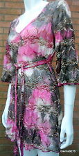 pink floral print stretch lace dress per una 10 pink plum new with tags