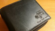 Land Rover Defender Personalised Leather Wallet merchandise gift present keyring