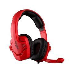 SADES SA-901C Bass Professional Gaming Computer Headphone with Mic Red