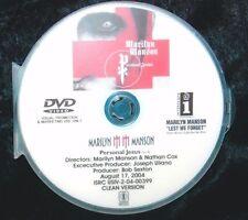MARILYN MANSON Personal Jesus Promo Music Video DVD (NOT CD) Depeche Mode cover