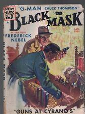 Black Mask Detective Stories Pulp January 1936 Guns at Cyrano's RAYMOND CHANDLER