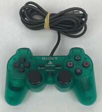Sony PlayStation Clear Green Authentic DualShock Controller PS1 PS2 SCPH-10010