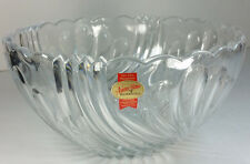 """Anna Hutte Bleikristall 24% Lead Crystal Round 8"""" Candy Dish Germany"""