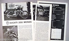 Ducati 250 Monza Motorcycle Review MAGAZINE ARTICLE - 1963