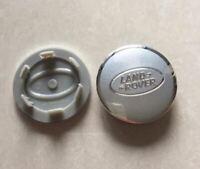 4 x 63mm LAND ROVER Silber Aluminium Alufelgen Nabenkappen Felgendeckel Hub Caps