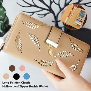 Lady Leather Wallet Long Large Purse Card Phone Holder Case Clutch Handbag UK