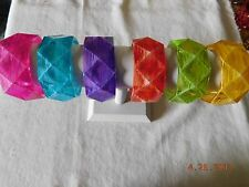 ALL NEW Acrylic Diamond Cut BANGLE bracelet Summer assorted Colored BRACELETS