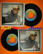 LP 45 7'' MARIANNE FAITHFULL Sweetheart Strage one 1981 italy ISLAND cd mc dvd *
