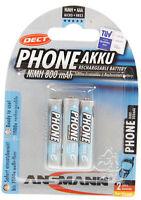 3x Ansmann Micro AAA Akkus 800mAh 1,2V geeignet für Telefone / Telefonakkus
