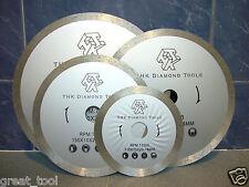 """180mm 7"""" THK Diamond segment sintered continuous rim TILE SAW BLADE wheel disc"""