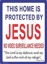 METAL SECURITY  WARNING SIGN, HOME OFFICE GATE SIGN 9x12 security sign, decor