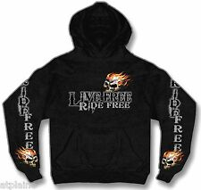 Sweat capuche LIVE FREE SKULL - Taille XL - Style BIKER HARLEY