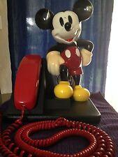 VINTAGE WALT DISNEY 1990 MICKEY MOUSE AT&T TRIMLINE DESK PHONE