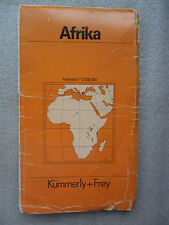 CARTE ROUTIERE-Straßenkarte-AFRIKA-KÜMMERLY+FREY-CARTE AFRIQUE-POLITISCH AFRIKA-