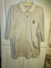 SLAZENGER Mens Polo Golf Shirt Size XL  striped yellow /brown