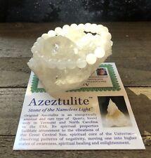 BEAUTIFUL AZEZTULITE NATURAL HIGH VIBRATION  CRYSTAL BRACELET