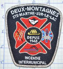 CANADA, DEUX-MONTAGNES STE-MARTHE FIRE INCENDIE QUEBEC SILVER EDGE PATCH