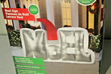 Gemmy Airblown Inflatable Noel Sign with a Santa Hat (5.5 ft.) NEW FREE S&H