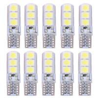 10pcs T10 SMD5050 LED Waterproof Car Wedge Lights Auto White Light Bulbs R1BO