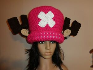 Tony CHOPPER HAT crochet knit handmade cosplay comic con OOAK Luffy NEW