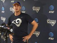 Game Worn Jared Goff 16 Los Angeles Rams Onfield Apparel Pants Large